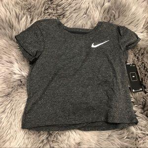 Nike Girls' Soft Speckled Shirt: Grey (PM1590)